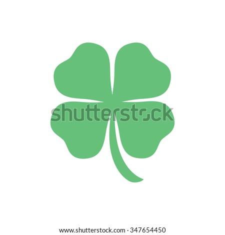 four leaf clover, St Patricks day vector - stock vector