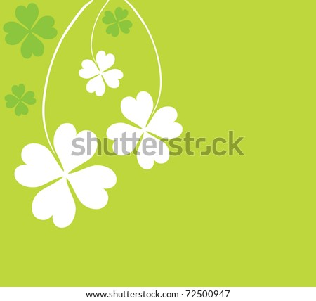 four leaf clovers card for St. Patrick's Day with space for your text - stock vector