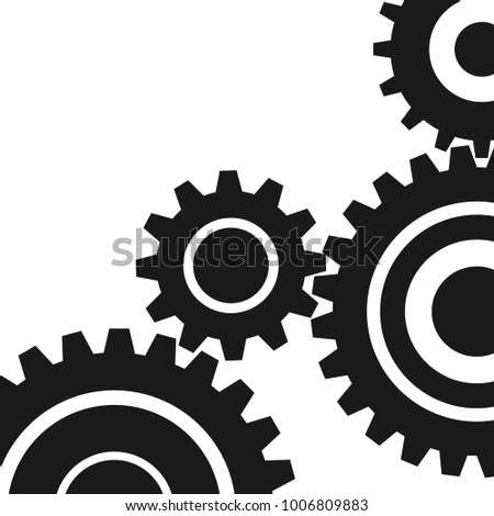 four pieces gears set icon on background. Vector illustration