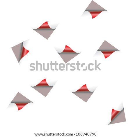four prints of a human hand on a white background.Vector - stock vector