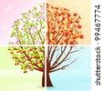Four Seasons - stock vector