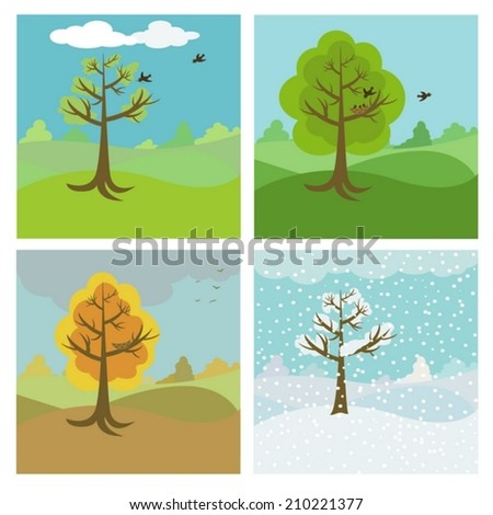 four seasons backgrounds