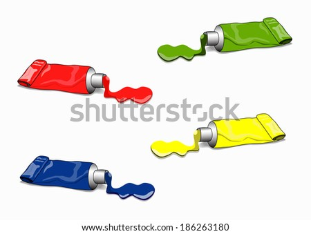 Paint tube cliparts