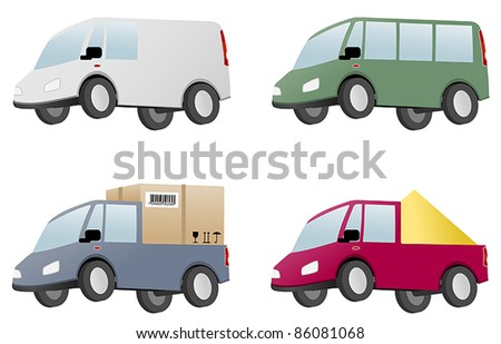 four vans with cargo