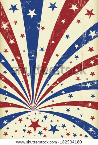 fourth of july. An american background for a poster - stock vector