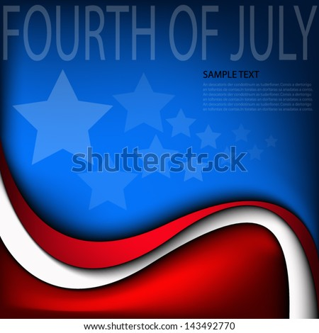 fourth of july background vector independent day of america united state for freedom board for text and message design - stock vector