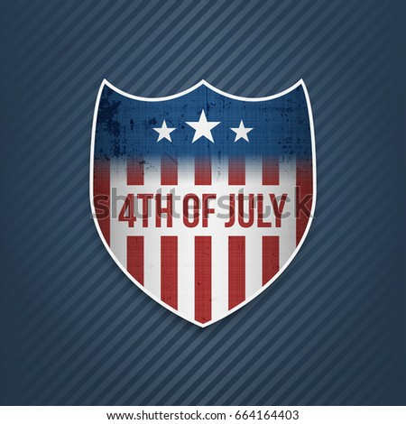 Fourth of July Celebration vector Banner