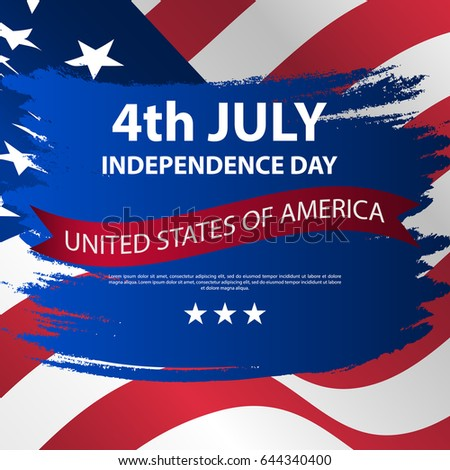 Fourth July Independence Day Usa Independence Stock Vector 644340400