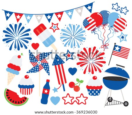 Fourth of July Party - stock vector