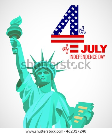 Fourth of July poster. Independence Day of USA