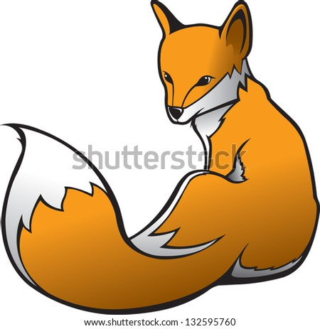 Fox 1 - stock vector