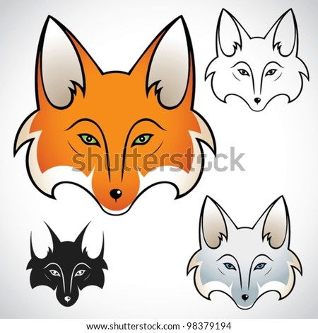 Fox head - vector illu...