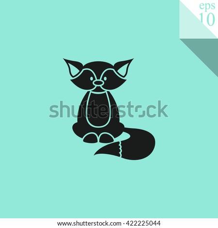 Fox Icon. - stock vector