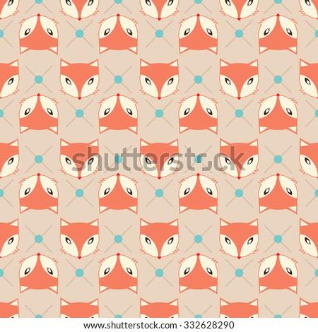 Fox Pattern - vector illustration eps10 - stock vector