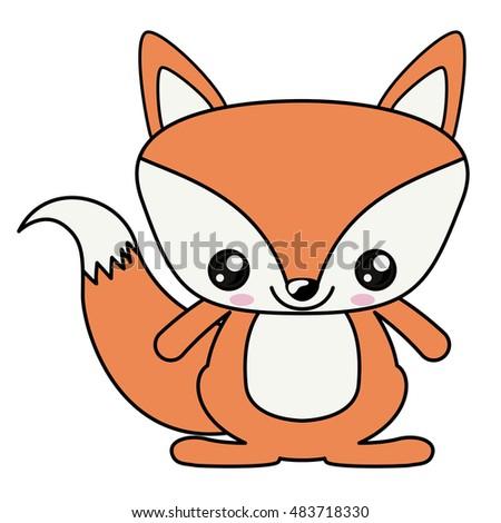 Cute cartoon fox face - photo#31