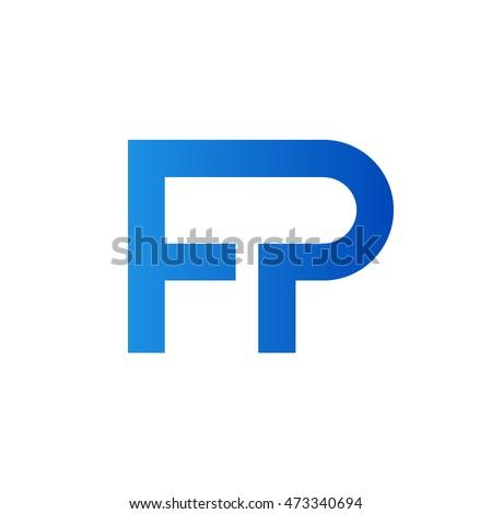 Stock Vector Fp Letters Logo Initial Monogram Ft