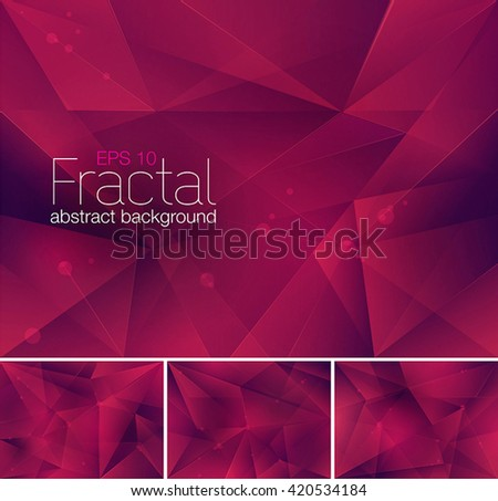Fractal abstract background. Each background separately on different layers.  Available in 4 variants  - stock vector