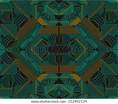 Fractal,abstract geometric pattern - stock vector