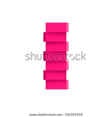 Fractured font, letter I - stock vector