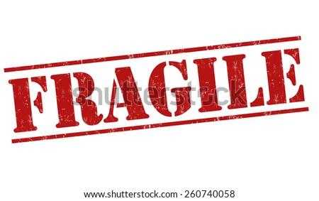 Fragile grunge rubber stamp on white background, vector illustration - stock vector