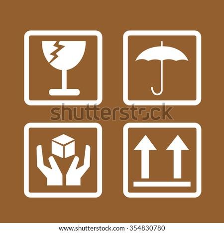 fragile icon symbol Illustration design - stock vector