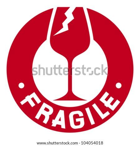 fragile stamp (fragile symbol) - stock vector