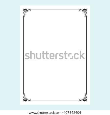 frame, border - stock vector