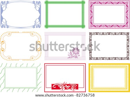 frame border certificate - stock vector