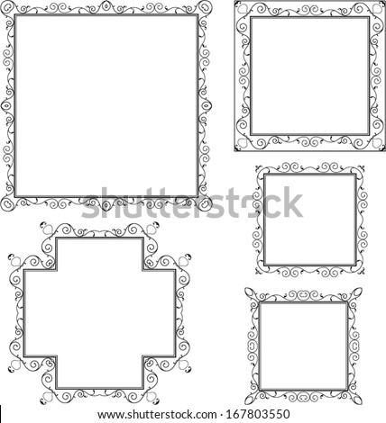 Frame Border Design - stock vector