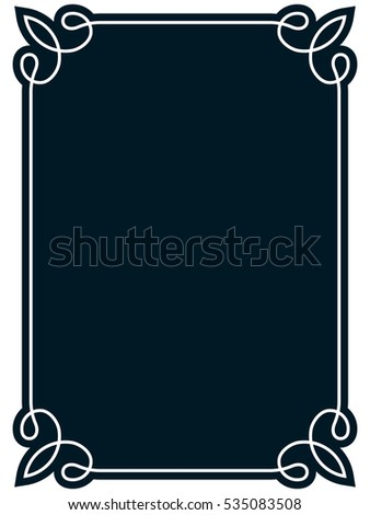 Frame border label page vector vintage simple