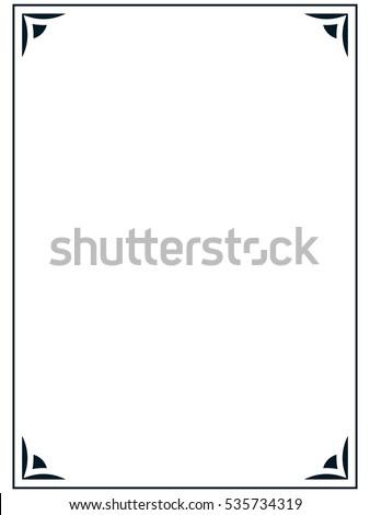 simple frame border. Unique Frame Frame Border Line Page Vector Simple On Simple Border A