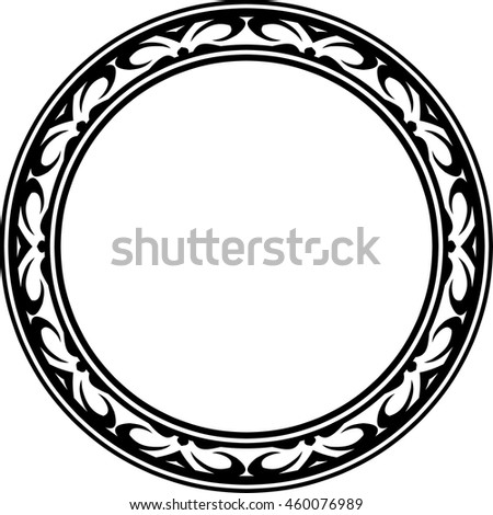 Frame Border Round Circle Beautiful Vector Vintage Isolated