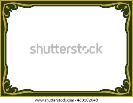 Frame border vector vintage isolated green