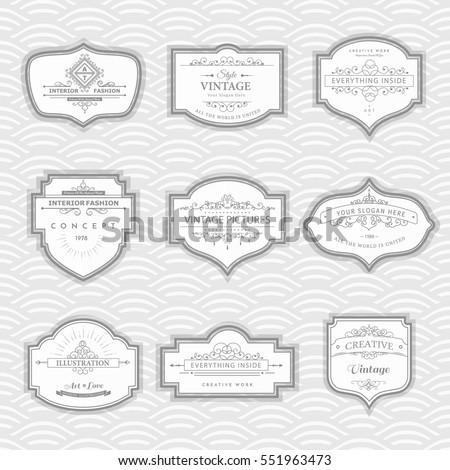 Frame Classic Template. Vintage Frames And Labels. Vector Design Elements  For Cafe, Restaurant
