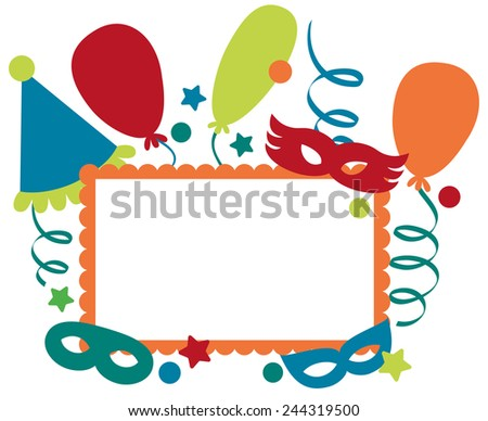 Frame for carnival or party invitation - stock vector