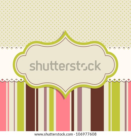 frame for greeting card - stock vector