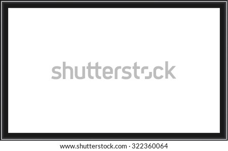 Frame for picture or text. isolated on white. Uniquely beautiful stripes. Vector Design EPS10.