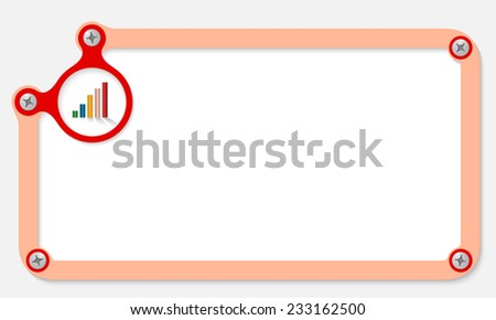frame for text with screws and graph - stock vector