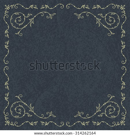 Frame for wedding invitation card template with floral ornaments. Vector illustration - stock vector