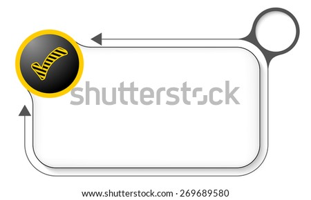 Frame for your text and check box - stock vector
