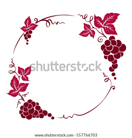 Frame from grapes / Vector illustration, floral design element