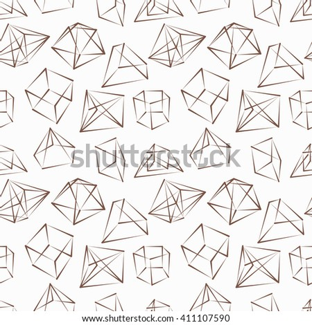 frame geometric shapes. brown color. Seamless pattern. Vector illustration. designed for business background, education, web, brochure. abstract creative concept layout template - stock vector