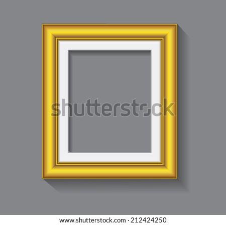 frame, gold color vintage - stock vector