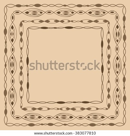 Frame in ethnic style.