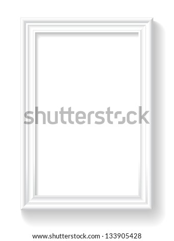 Frame is on the white background. - stock vector