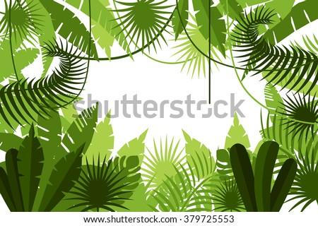 frame jungle vector illustration stock vector 379725553 shutterstock rh shutterstock com jungle vector freepik jungle vector pack