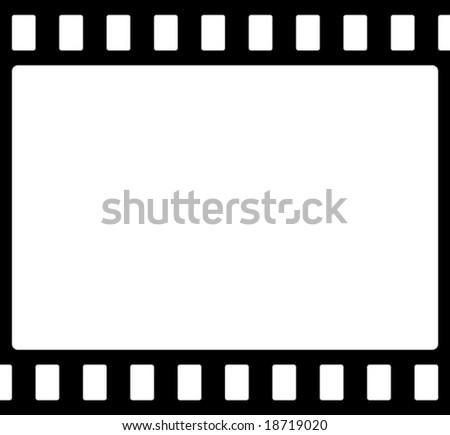 Frame made of old black film - stock vector