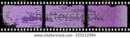 frame of film, grungy photo frame,with free copy space,vector, fictional artwork - stock vector