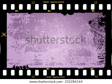 frame of film, grungy photo frame with free copy space,vector illustration, fictional artwork - stock vector