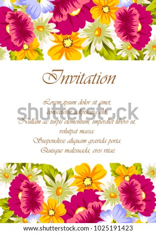 Frame flowers card designs greeting cards stock vector 1025191423 frame of flowers for card designs greeting cards birthday invitations valentines day m4hsunfo